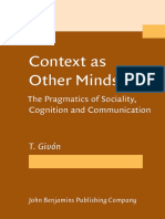 Context as Other Minds. Givon. PDF