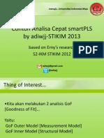 Contoh Analisa Cepat Smartpls