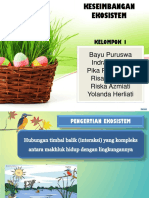 3013 Eggs Easter Powerpoint Template Green