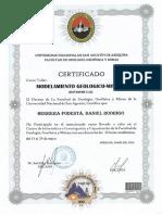 certificado Data-mine 3.21 Modelamiento Geologico Minero