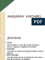 8. Budget Variabel