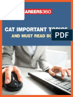 CAT Important Topics & Must Read Books
