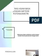 Titrasi Asam Basa Dengan Metode Potensiometri