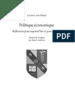 Mises - Politique économique