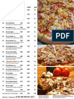 Zum Stern Pizza Speisekarte