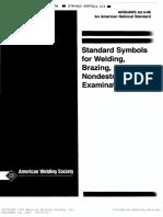 Standard Symbols for Welding NDT