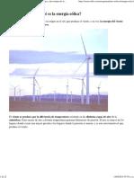 Energia Eólica - Qué Es, Cómo Funciona y Las Ventajas y Desventajas de La Energía Eólica