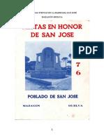 Primeras fiestas del poblado San José