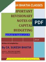 CA IPC Capital Budgeting Most Important Questions 1TR8KKBF
