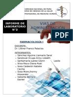 Informe de Laboratorio n02 Vías de Administración
