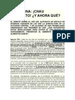 ARGENTINA Chau Glifosato