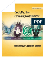 Electric Machines Considering Power Electronics