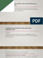 Estrategia de Cadena de Suministro en La Organización