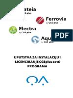 0 Uputstva Za Instalaciju i Licenciranje CGSplus 2016