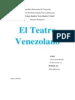 El Teatro Venezolano (Trabajo)