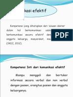 Komunikasi Efektif Dokter - Pasien - Masyarakat