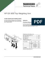 Suessen HP-GX 4010 Speed Frame Top Arm Details