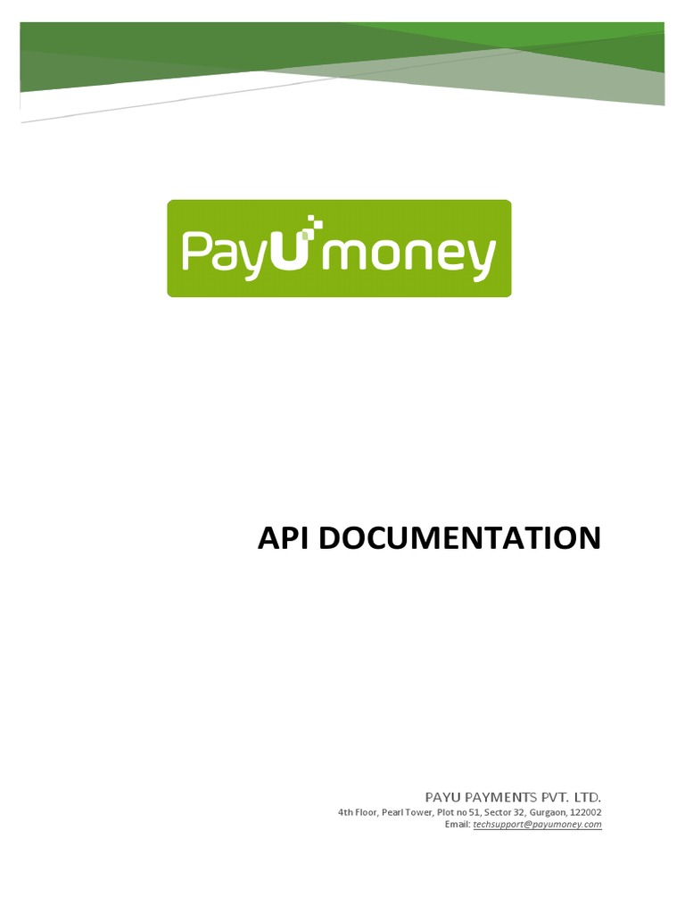 API Documentation - PayUMoney | Hypertext Transfer Protocol