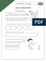 Sequencia Atividades Alfabeto Vogais e Consoantes