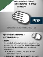 Understanding an Apostolic Church IV