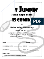 Heber ValleyElementary Rope Sell Flyer
