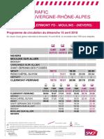 Clermont-Ferrand-Nevers-Moulins - Dimanche 15 avril