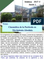 Sesion 1-2017-2 Cinematica de La Particula (1)
