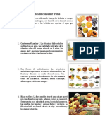 Beneficios de Consumir Frutas