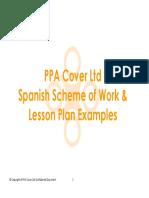 Spanish Lesson Plan Examples