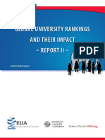 Rauhvarger Global University Rankings Report II