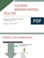 pembubaran partai politik