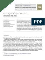 Towards Linguistic Descriptions of Phenomena-2013