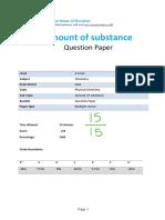 Amounts of Substance MC