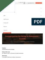 Compensation for Delay in Possession. Centrik