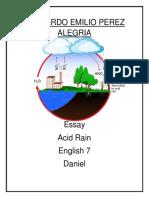 Leonardo Emilio Perez Alegria Acid Rain
