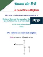 PCS2498 Aula Interfaces Prof. Carlos E. Cugnasca