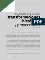 Leonora Reyes - Escuela Pública y Sistema Escolar