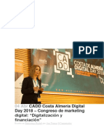 CADD Costa Almería Digital Day 2018