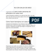 Berenjenas Con Salsa de Miso