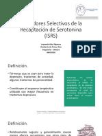 Inhibidores Selectivos de La Recaptación de Serotonina