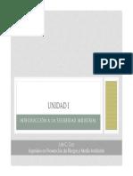 Unidad I Introduccion a La Seguridad Industrial Clase 1