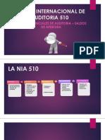 Norma Internacional de Auditoria 510