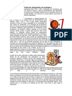 La Historia Del Basquetbol en Guatemala