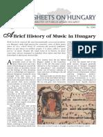 Brief History Hungarian Music
