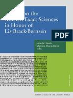 2017 Studies on the Ancient Exact Scienc