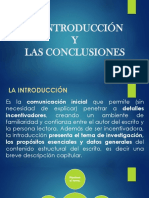 La Introducción Conclusión y Referencias Bibliográficas