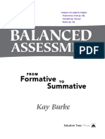 Balanced Assessment From Formative to Summative by Burke