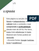 Espada – Wikipédia, A Enciclopédia Livre