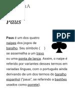 Paus – Wikipédia, A Enciclopédia Livre