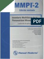 MMPI-2. Cuadernillo de Aplicación